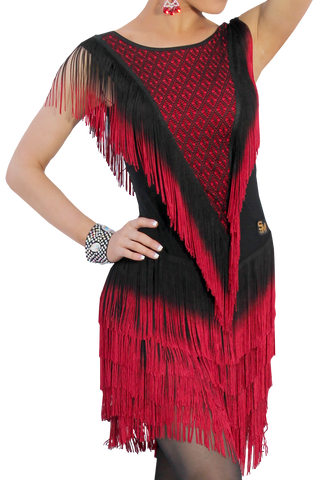 Cascading Fringe Latin & Rhythm Dress