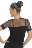 Semi Transparent Sweetheart Neckline Blouse - Where to Buy Dancewear SM Dance Fashion Competition Outfit Costume