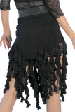 Draped Frills Latin & Rythm Skirt - Where to Buy Dancewear SM Dance Fashion Competition Outfit Costume