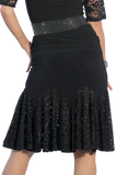 Lace Smooth Circle Latin & Rythm Skirt - Where to Buy Dancewear SM Dance Fashion Competition Outfit Costume