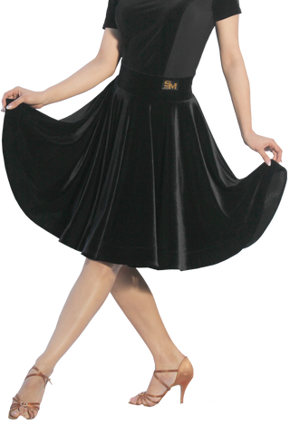 Velvet Flounce Latin & Rhythm Skirt - Where to Buy Dancewear SM Dance Fashion Competition Outfit Costume