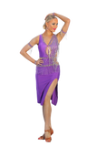 Purple Latin Competition Dress - Where to Buy Dancewear SM Dance Fashion Competition Outfit Costume