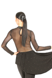 Rhinestone & Pearl Mesh Blouse - Where to Buy Dancewear SM Dance Fashion Competition Outfit Costume