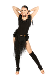 Cascading Fringe Latin & Rythm Shorts - Where to Buy Dancewear SM Dance Fashion Competition Outfit Costume