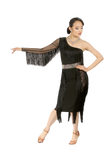 Highwaist Pencil Fringe Latin & Rythm Skirt - Where to Buy Dancewear SM Dance Fashion Competition Outfit Costume