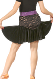 Velvet Lace Flounce Latin & Rythm Skirt - Where to Buy Dancewear SM Dance Fashion Competition Outfit Costume
