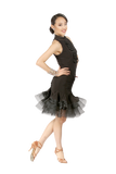 Centered Fold & Mesh Edge Latin Skirt - Where to Buy Dancewear SM Dance Fashion Competition Outfit Costume
