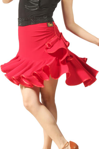 Asymmetrical Frill Latin & Rhythm Skirt - Where to Buy Dancewear SM Dance Fashion Competition Outfit Costume