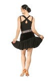 Rhinestones Triple Mesh Frill  Blouse - Where to Buy Dancewear SM Dance Fashion Competition Outfit Costume