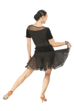 Double Flounce Latin & Rythm Skirt - Where to Buy Dancewear SM Dance Fashion Competition Outfit Costume