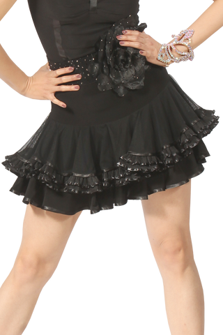 Bow Tale Latin & Rythm Skirt - Where to Buy Dancewear SM Dance Fashion Competition Outfit Costume