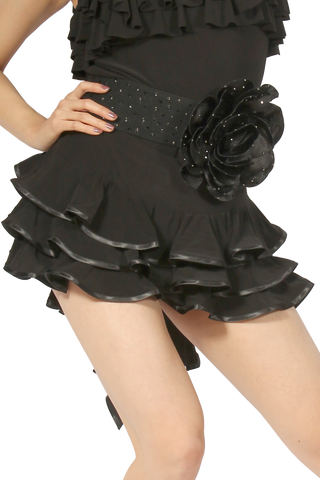 Triple Layered Latin & Rhythm Skirt - Where to Buy Dancewear SM Dance Fashion Competition Outfit Costume