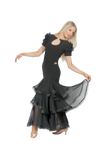 Layered Crinoline Hem Ballroom & Smooth Skirt - Where to Buy Dancewear SM Dance Fashion Competition Outfit Costume