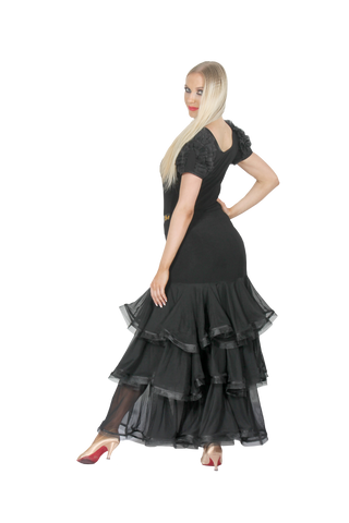 Layered Crinoline Hem Ballroom & Smooth Skirt