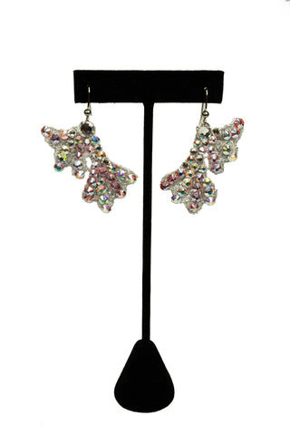 Flare Crystal Drop Earrings-Front View | SM Dance Fashion