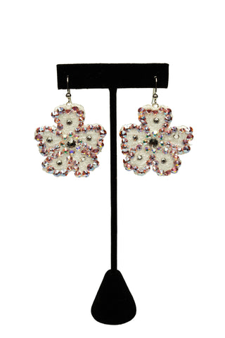 Floral Drop Earrings-Front View | SM Dance Fashion