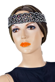 Crystallized Spiral & Scalloped Line Hair Piece-Front View | SM Dance Fashion