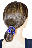 Blue Rainbow Shape Vector Hair Piece-Front View | SM Dance Fashion