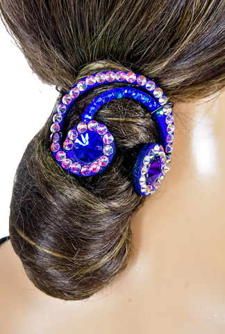 Blue Rainbow Shape Vector Hair Piece - Where to Buy Dancewear SM Dance Fashion Competition Outfit Costume