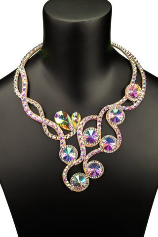 Crystallized Round Accent Princess Necklace