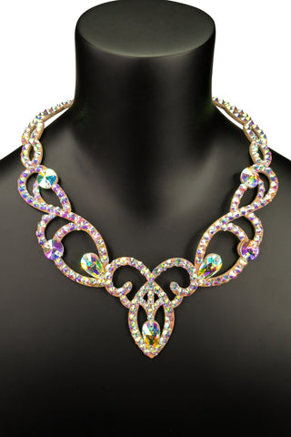Charmed Crystal Princess Necklace-Front View | SM Dance Fashion