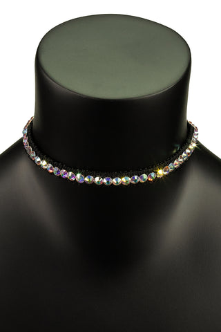 Crystallized Petite Choker Necklace-Front View | SM Dance Fashion