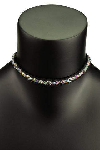 Crystal Waver Choker Necklace-Front View | SM Dance Fashion
