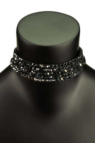 5 Layer Choker Necklace-Front View | SM Dance Fashion