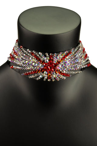 Star Ruby Choker Necklace-Front View | SM Dance Fashion