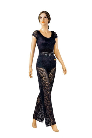 Transparent Lace JumpSuit - Where to Buy Dancewear SM Dance Fashion Competition Outfit Costume