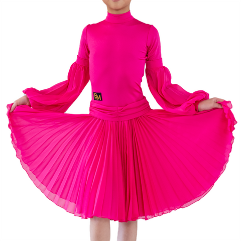 Girl's Latin & Ballroom Long Sleeves Dress | SM Dance Fashion
