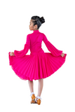 Girl's Latin & Ballroom Long Sleeves Dress - Where to Buy Dancewear SM Dance Fashion Competition Outfit Costume