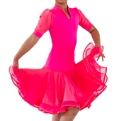 Princess Gored Latin Dress - Where to Buy Dancewear SM Dance Fashion Competition Outfit Costume