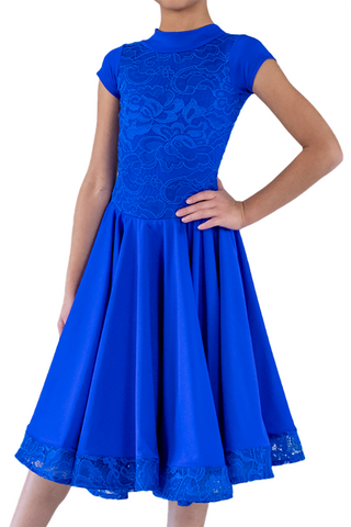 Girl's Blue Dance Performance Dress - Where to Buy Dancewear SM Dance Fashion Competition Outfit Costume
