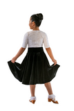Black Velvet Dance Performance Dress - Where to Buy Dancewear SM Dance Fashion Competition Outfit Costume