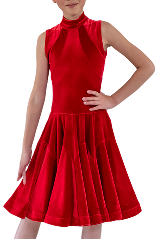 Red Velvet Dance Competition Dress | SM Dance Fashion