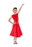 Princess Red Velvet Dance Competition Dress - Where to Buy Dancewear SM Dance Fashion Competition Outfit Costume