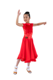 Princess Red Velvet Dance Competition Dress