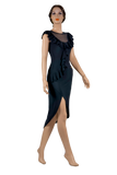 Asymmetrical Frill Latin & Rhythm Dress-Front View | SM Dance Fashion