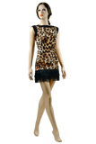 Leopard Print Short Fringe Latin & Rhythm Dress - Where to Buy Dancewear SM Dance Fashion Competition Outfit Costume