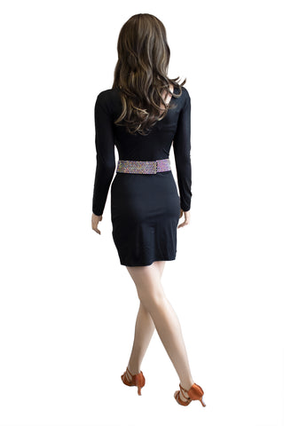 Snakeskin Print Latin Dress - Where to Buy Dancewear SM Dance Fashion Competition Outfit Costume