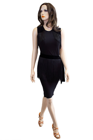 Black Bodycon Convertible Dress - Where to Buy Dancewear SM Dance Fashion Competition Outfit Costume