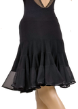 Layered Flounce Latin & Rhythm Skirt - Where to Buy Dancewear SM Dance Fashion Competition Outfit Costume