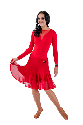 Latin Dance Layered Flounce Skirt | SM Dance Fashion