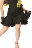Drapped Double Flounce Latin & Rythm Skirt - Where to Buy Dancewear SM Dance Fashion Competition Outfit Costume