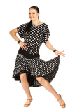 High Low Polkadot Latin & Rythm Skirt