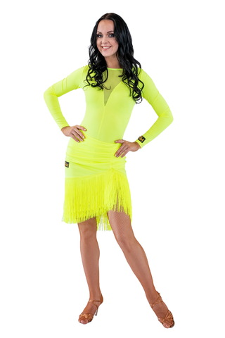 Asymmetrical Fringe Latin & Rhythm Skirt | SM Dance Fashion