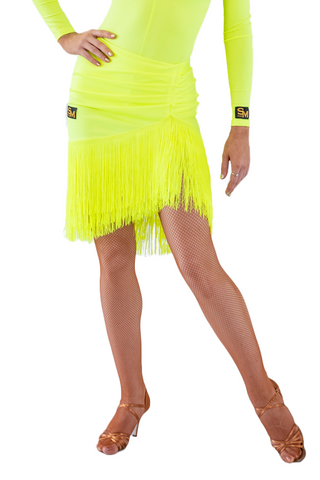 Asymmetrical Fringe Latin & Rhythm Skirt - Where to Buy Dancewear SM Dance Fashion Competition Outfit Costume