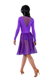 Purple Flounce Latin & Rhythm Skirt | SM Dance Fashion