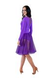 Purple Flounce Latin & Rhythm Skirt - Where to Buy Dancewear SM Dance Fashion Competition Outfit Costume